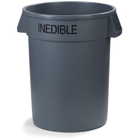 341032INE23 - Bronco™ Round INEDIBLE Waste Container 32 Gallon - Gray
