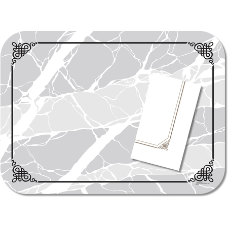 "DX5320MNS - Marble Elegance (non-skid) Straight Edge/Round Corener-fits 15""x20"" Tray 13-5/8""x18-3/4"" (1000/cs)"