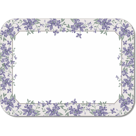 "DX5329M - Orchid Borders Tray Cover Size: M w/ Straight Edge/Round Corner 13-5/8"" x 18-3/4"" (1000/cs)"