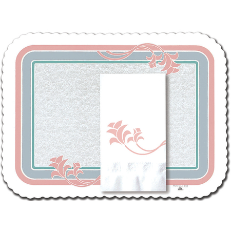 "DXR30843M - Floret Tray Cover Size: M w/ Scalloped Edge/Round Corner 13-5/8"" x 18-3/4"" (1000/cs)"