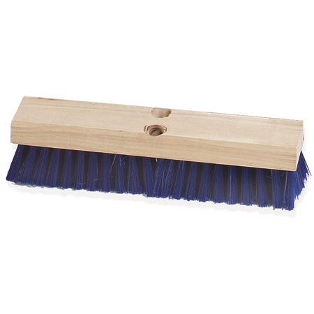 """3627514 - Flo-Pac® Stiff Polypropylene Deck Scrub 12"""" - Blue"""