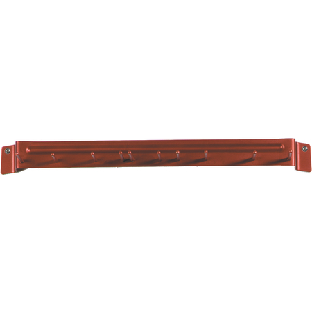 "4073505 - Spectrum® Aluminum Brush Rack 17"" Long - Red"