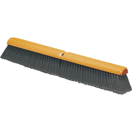"4501323 - Flagged Bristle Hardwood Push Broom Head (Handle Sold Separately) 18"" - Gray"