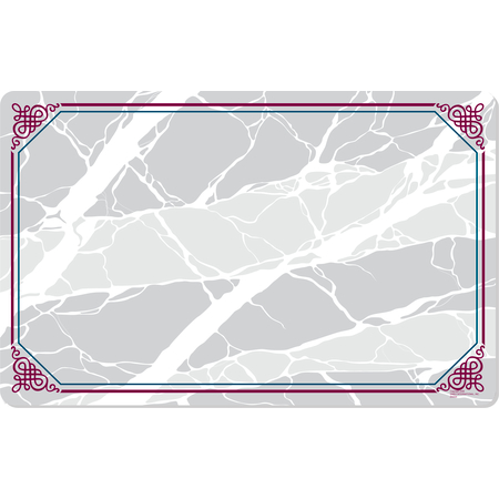 "DX5322VHW - Marbled Elegance II Tray Cover Size: V w/ Straight Edge/Round Corner 11-3/8"" x 19-1/2"" (1000/cs)"