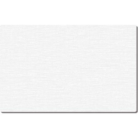 "DX5999G00102 - White Embossed Tray Cover Size: G w/ Straight Edge/Round Corner 11"" x 20-1/2"" (2000/cs) - White"