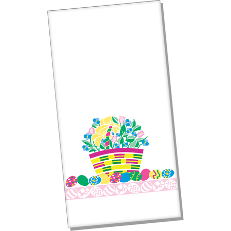 "DXHS104DN01 - Easter Basket Design Dinner Napkin 15"" x 17"" (100/pk)"