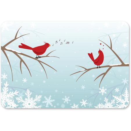 """DXHS460I001 - Winter Birds Size I 16.625"""" x 12.75"""" (100/cs)"""