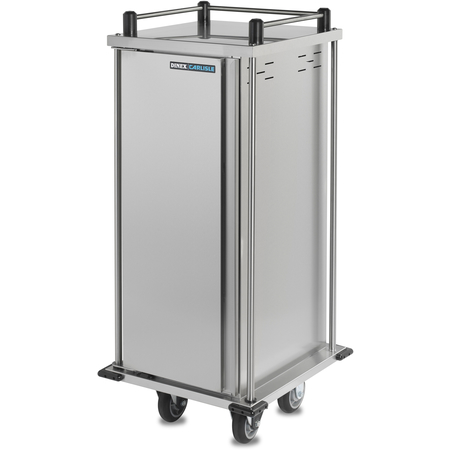 "DXPTQ1T1D6 - Dinex® TQ Quiet Cart, Single Door, 6 Trays (1 Tray Per Slide) 25.64"" x 27.58"" x 45.06"" - Stainless Steel"