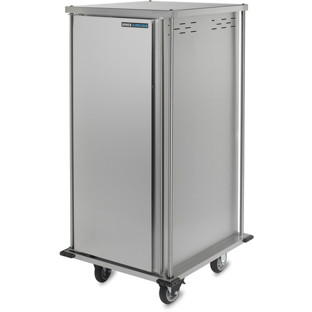 "DXTQ2T1D12 - 12 Tray Cart, Single Door, Two Trays per Slide 31.64"" x 36.21"" x 50.55"" - Stainless Steel"