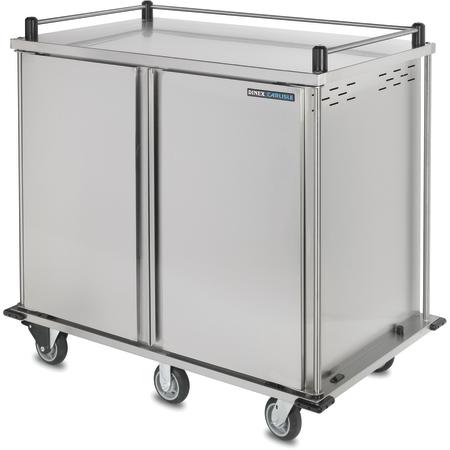 "DXPTQ2T2D32 - Dinex® TQ Quiet Cart, Double Door, 32 Trays (2 Trays Per Slide) 56.14"" x 36.26"" x 61.05"" - Stainless Steel"