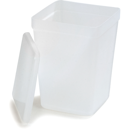 38600CL - Polypropylene Container With Stainless Lid 2 qt - Translucent