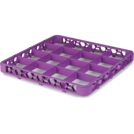 """RE16C89 - OptiClean™ 16 Compartment Divided Glass Rack Extender 1.78"""" - Lavender"""