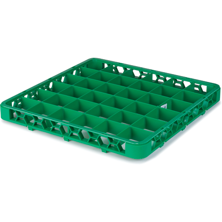 """RE36C09 - OptiClean™ 36 Compartment Divided Glass Rack Extender 1.78"""" - Green"""