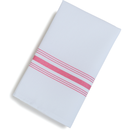 "53771822NH001 - SoftWeave™ Bistro Striped Napkin 18"" x 22"" - Red"