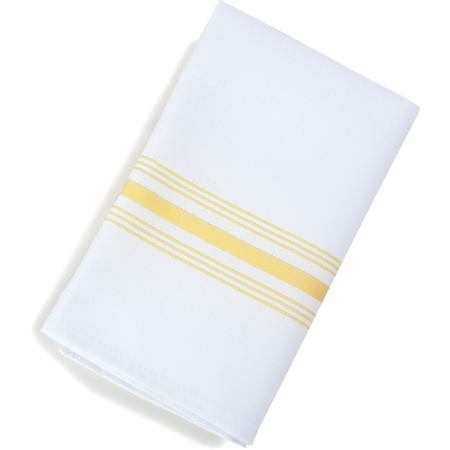 "53771822NH004 - Bistro Striped Napkin 18"" x 22"" - Yellow"