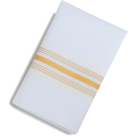 "53771822NH008 - SoftWeave™ Bistro Striped Napkin 18"" x 22"" - Gold"
