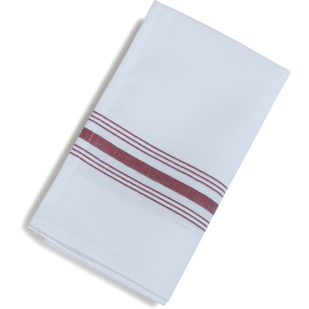 "53771822NH023 - SoftWeave™ Bistro Striped Napkin 18"" x 22"" - Maroon"
