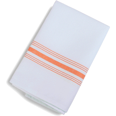 "53771822NH414 - SoftWeave™ Bistro Striped Napkin 18"" x 22"" - Orange"