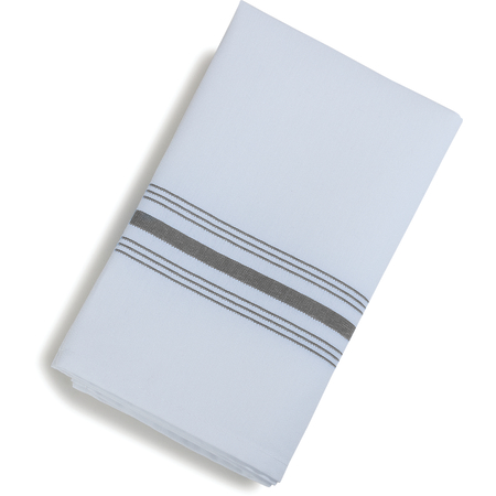 "53771822NH512 - SoftWeave™ Bistro Striped Napkin 18"" x 22"" - Metallic Gray"