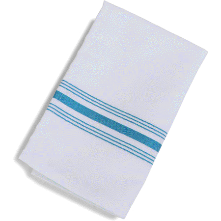 "53771822NH630 - SoftWeave™ Bistro Striped Napkin 18"" x 22"" - Belize Blue"