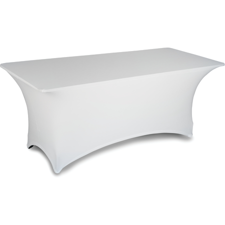 "EMB5026RT424010 - Embrace™ Rectangle Stretch Table Cover 48"" x 24"" x 30"" - White"
