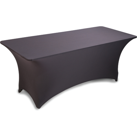 "EMB5026RT818014 - Embrace™ Rectangle Stretch Table Cover 96"" x 18"" x 30"" - Black"