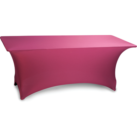 "EMB5026RT830046 - Embrace™ Rectangle Stretch Table Cover 96"" x 30"" x 30"" - Burgundy"