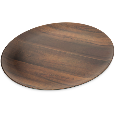 "EAG0669 - Epicure® Acacia Grain Round Platter 18"" - Dark Woodgrain"