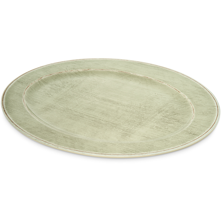 """6402146 - Melamine Oval Platter Tray 20"""" x 14"""" - Jade"""