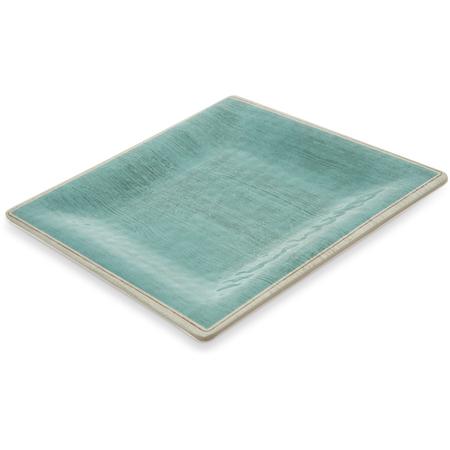 """6402315 - Grove Melamine Square Salad Plate 8.5"""" - Aqua"""