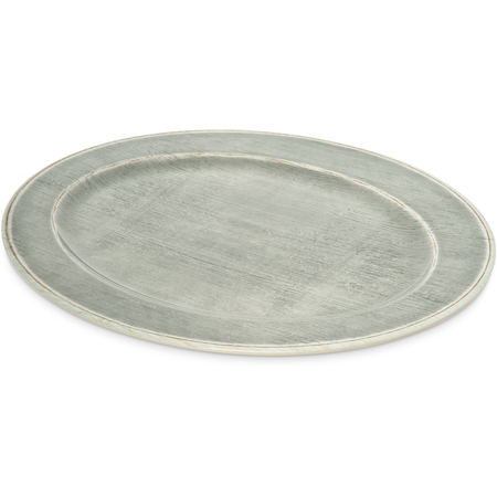 "6402118 - Melamine Oval Platter Tray 20"" x 14"" - Smoke"