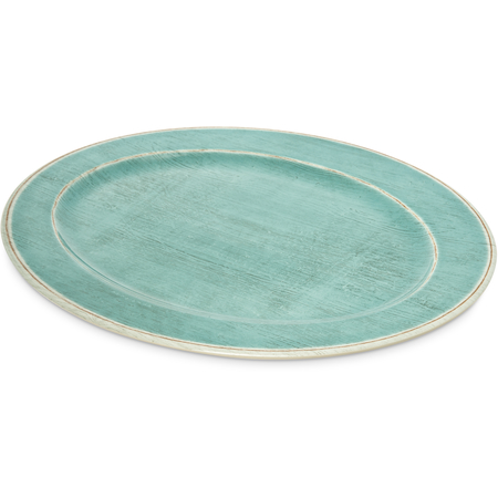 "6402115 - Melamine Oval Platter Tray 20"" x 14"" - Aqua"