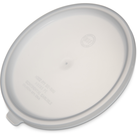 020302 - Polyethylene Bain Marie Food Storage Container Lid 2 - 3 1/2 qt - White