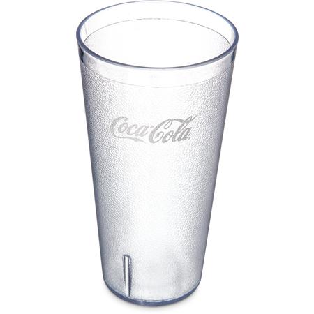 5232-63550J - Coca-Cola® Stackable™ SAN Plastic Tumbler 32 oz (72ea) - Coke - Clear