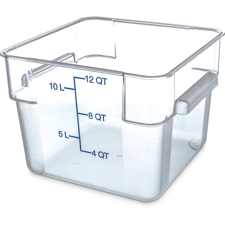 1072407 - StorPlus™ Polycarbonate Square Food Square Container 12 qt - Clear