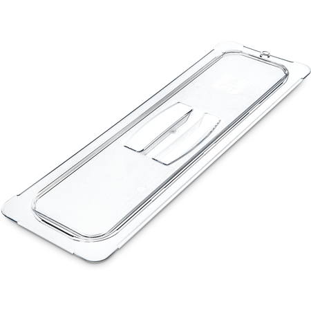 10250U07 - StorPlus™ Polycarbonate Handled Universal Lid 1/2 Long Size - Clear