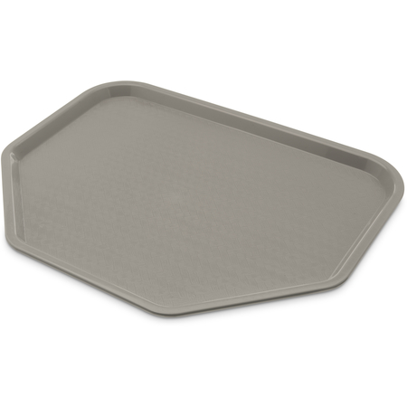"CT1713TR23 - Cafe® Trapezoid Fast Food Cafeteria Tray 18"" x 14"" - Gray"