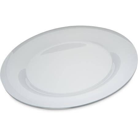 """4302402 - Durus® Melamine Wide Rim Round Plate 12"""" - White"""
