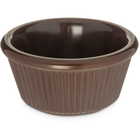 S28269 - Melamine Fluted Ramekin 3 oz - Chocolate