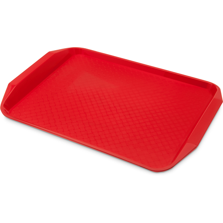 "CT121705 - Cafe® Fast Food Cafeteria Tray with Handles 12"" x 17"" - Red"