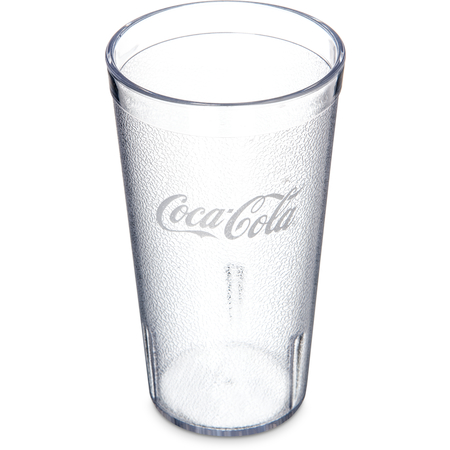 52163550E - Coca-Cola® Stackable™ SAN Plastic Tumbler 16 oz - Coke - Clear