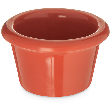 S27552 - Melamine Smooth Ramekin 1.5 oz - Sunset Orange