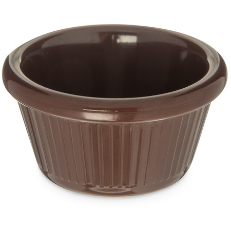 S27969 - Melamine Fluted Ramekin 2 oz - Chocolate