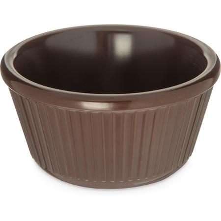 S28769 - Melamine Fluted Bowl Ramekin 4 oz - Chocolate