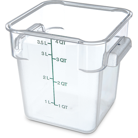 1072107 - StorPlus™ Polycarbonate Square Food Storage Container 4 qt - Clear