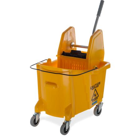 3690504 - Flo-Pac® Bucket/Wringer w/Down Press 35 Quart - Yellow