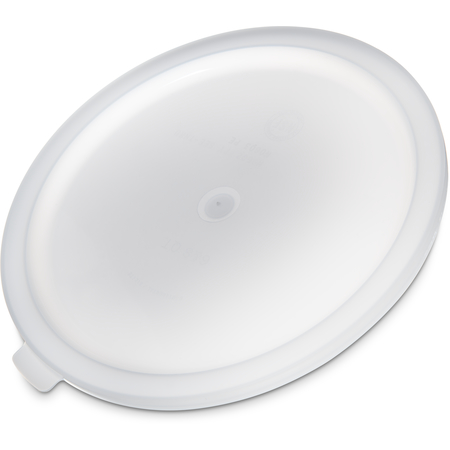 060302 - Polyethylene Bain Marie Food Storage Container Lid 6 - 8 qt - White