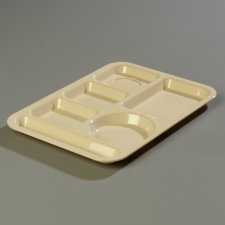"61425 - Left-Hand 6-Compartment ABS Tray 10"" x 14"" - Tan"