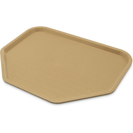"CT1713TR06 - Cafe® Trapezoid Fast Food Cafeteria Tray 18"" x 14"" - Beige"