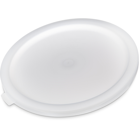 120202 - Polyethylene Bain Marie Food Storage Container Lid 12 - 22 qt - White